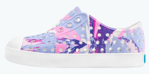 Native Jefferson Printed Shoes Shell White Pink Multi Splatter Shell White