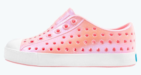 Native Iridescent Jefferson Shoes - Princess Pink/Shell White/Galaxy