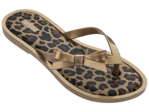 Melissa Flip Flop Animal-Gold Glitter