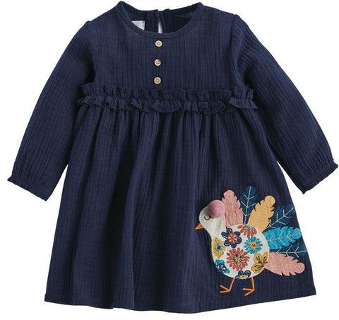 Mud Pie Turkey Dress Basically Bows & Bowties