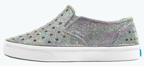 Native Miles Bling Shoes Disco Bling Shell White