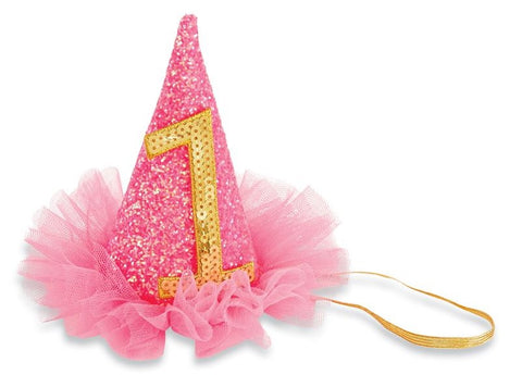 Mud Pie Birthday Hat Glitter Headband