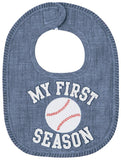 Mud Pie My First Season Baseball Bib
