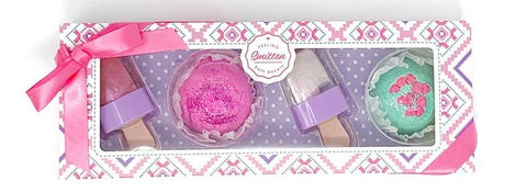 Feeling Smitten Sweet Treat Bath Bomb & Lip Gloss Set
