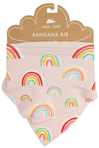 Angel Dear Pink Rainbows Bandana Bib