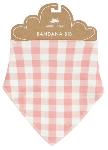 Angel Dear Pink Gingham Bandana Bib