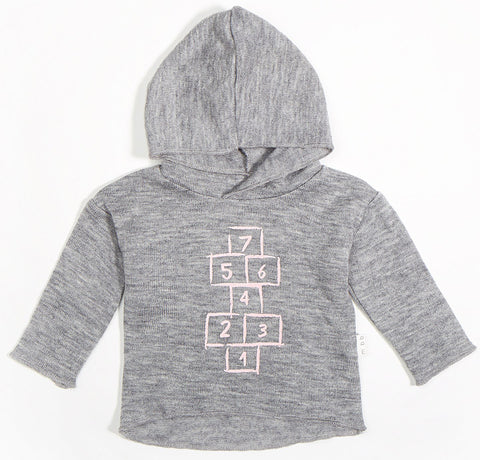 Miles Baby Hopscotch Hoodie-Pink