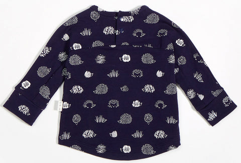 Miles Baby Navy Blue Porcupine Top