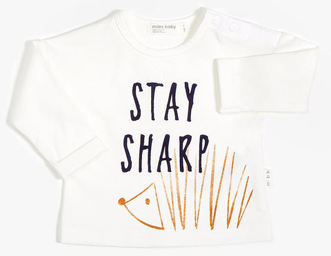 Miles Baby Stay Sharp Long Sleeve Top