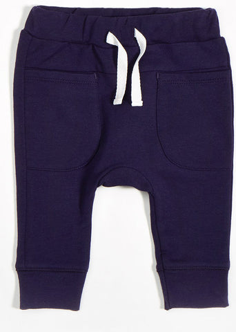 Miles Baby by Petit Lem Navy Blue Jogger Pants