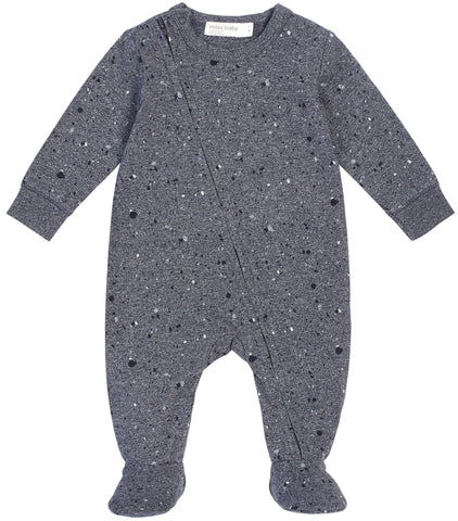 Miles Baby Dark Blue Knit One Piece Romper