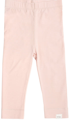 Miles Baby Light Pink Knit Leggings