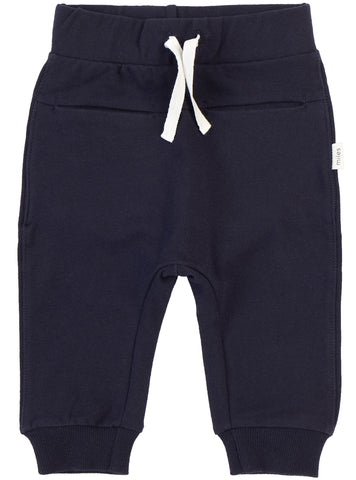 Miles Baby Navy Unisex Jogger Pants-Infant