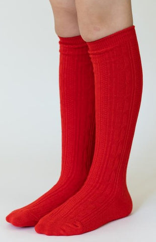 Little Stocking Co Bright Red Knee High Socks