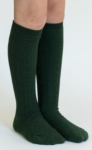 Little Stocking Co Forest Green Knee High Socks