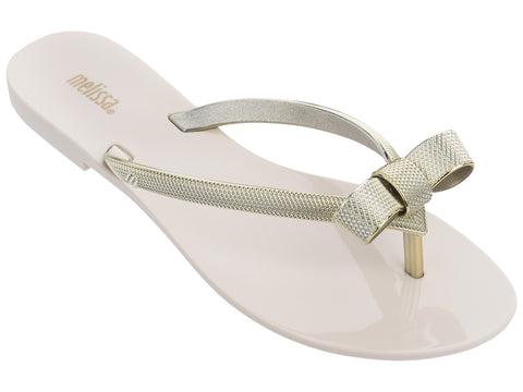 Melissa Gold Glitz Beige Harmonic Chrome IV Basically Bows & Bowties