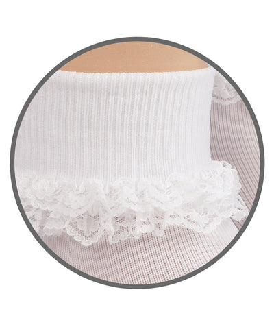 Jefferies Double Row Lace Socks