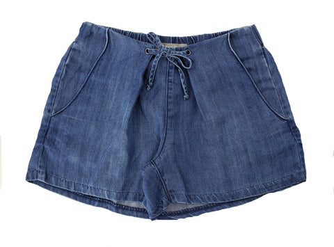 Tractr Girls Pleated Chambray Short