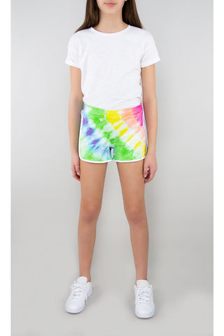 Tractr Girls French Terry Tie-Dye Shorts