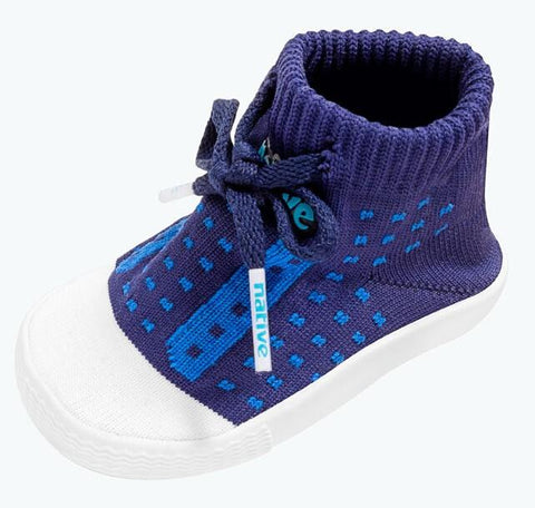 Native Jefferson Baby Knit Shoes Regatta Blue