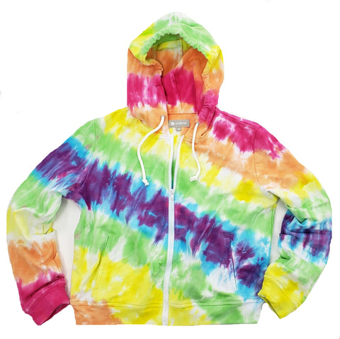 Tractr Girls French Terry Tie-Dye Hoodie