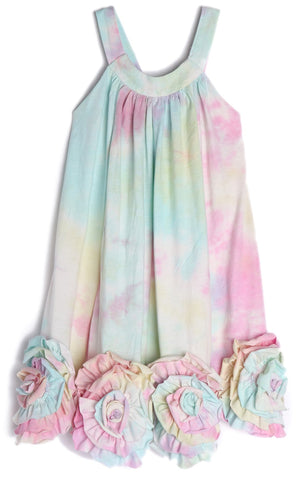 Isobella and Chloe Magic Muse Tye Dye Knit Dress Basically Bows & Bowties