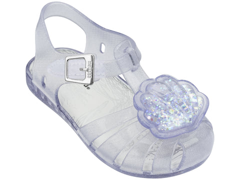 Mini Melissa Aranha XII-Clear Glass Sparkly Shell