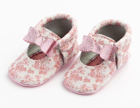 Freshly Picked Floral Toile Ballet Flat Bow Mini Sole