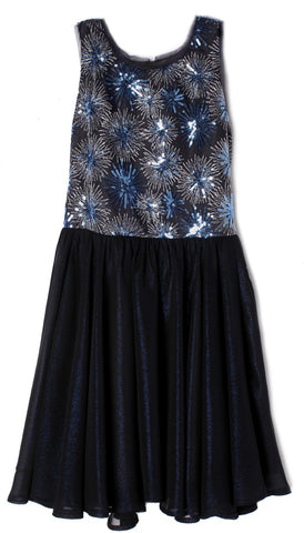 Isobella & Chloe Navy Midnight Frost Dress Basically Bows & Bowties