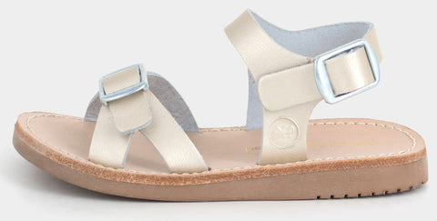 Freshly Picked Platinum Carmel Sandals - Basically Bows & Bowties