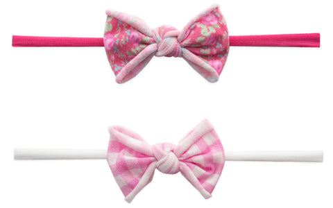 Baby Bling Pink Pack Mini 2pc Skinny Headband Set