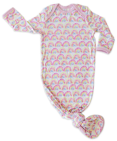 Little Sleepies Pastel Rainbows Bamboo Knotted Gown
