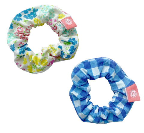Baby Bling Denim Ditsy Scrunchie 2 Pack