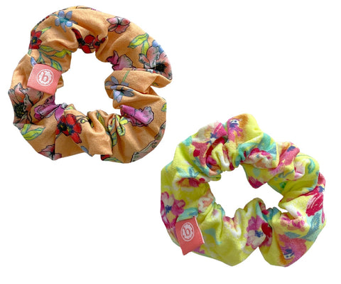 Baby Bling Summer Floral Scrunchie 2 Pack
