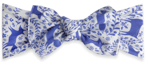 Baby Bling Deer Toille Printed Knot Headband - Basically Bows & Bowties