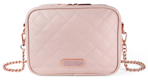 Itzy Ritzy Blush Crossbody Diaper Bag Basically Bows & Bowties