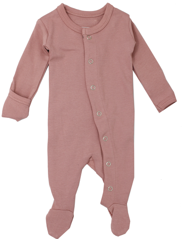 L'ovedbaby Mauve Footed Overall