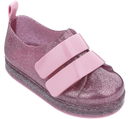Mini Melissa Pink Glitter Go Sneaker Basically Bows & Bowties