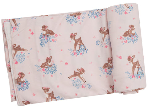 Angel Dear Woodland Deer Bamboo Swaddling Blanket