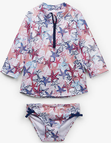Hatley Snazzy Starfish Long Sleeve Rashguard Set