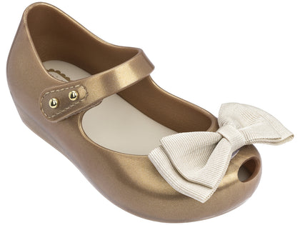 Mini Melissa Ultragirl Sweet-Gold Glitter Tan
