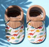 Freshly Picked Dinos City Moccasins - Basically Bows & Bowties