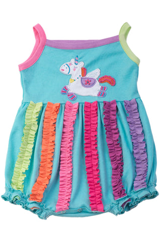 Lemon Loves Layette Unicorn Bubble Romper