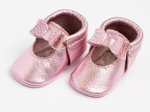 Freshly Picked Pink Frost Ballet Flat Bow Mini Sole