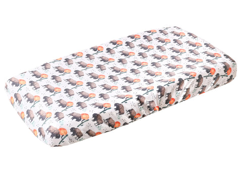 Copper Pearl Bison Diaper Changing Pad Cover