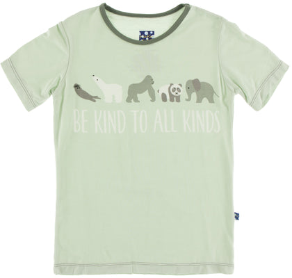 KicKee Pants Aloe Be Kind S/S Tailored Fit Piece Print Tee