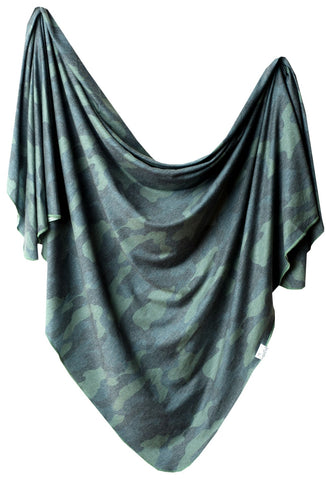 Copper Pearl Hunter Knit Swaddle Blanket Basically Bows & Bowties