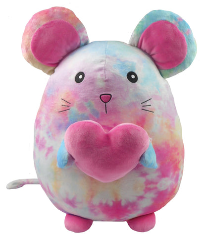 Iscream Cotton Candy Tie Dye Mouse Fleece Pillow