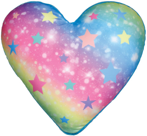 Iscream Shimmering Rainbow Heart Scented Microbead Pillow
