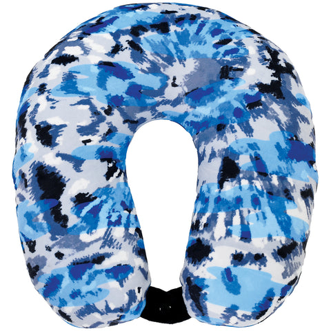 Iscream Blue Tie Dye Neck Pillow w/Snap Closure